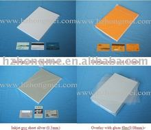 inkjet PVC sheet(golden)/overlay with glue film