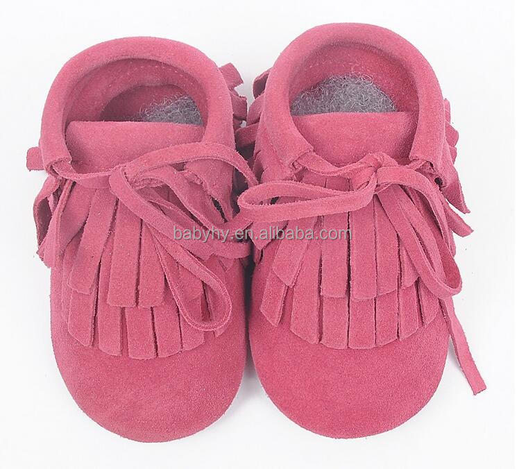 2016 new suede leather baby moccasins kids snow long tassel kids boots baby girl shoes