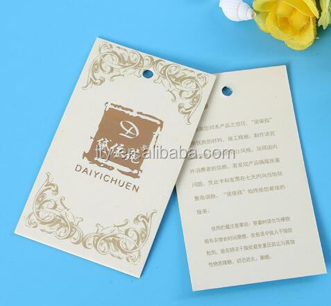 garment die cut tags fancy design custom paper swing tag for jeans