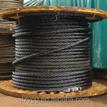 black steel cable 1960 for lifts elevator rope 13mm