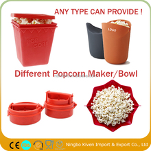 2017 New Collapsible Silicone Microwave Popcorn Popper With Non-slip Handles