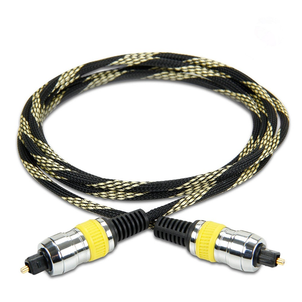 Good Quality Toslink Fiber Cable Nylon Braided Digital Audio Optical TOSLink Cable with High Fidelity Audio Transfer