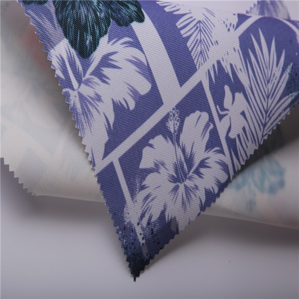 China supplier flower printed heavy metal free twill 100% polyester oxford fabric