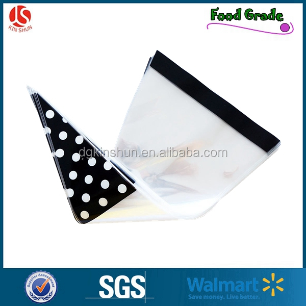Eco friendly plastic custom printed cellophane candy bag/cookie packaging bag