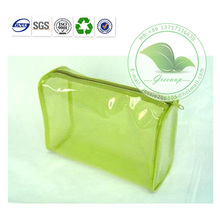 Cheap Eco-friendly Transparent PVC Zipper cosmetic Bag for Sale