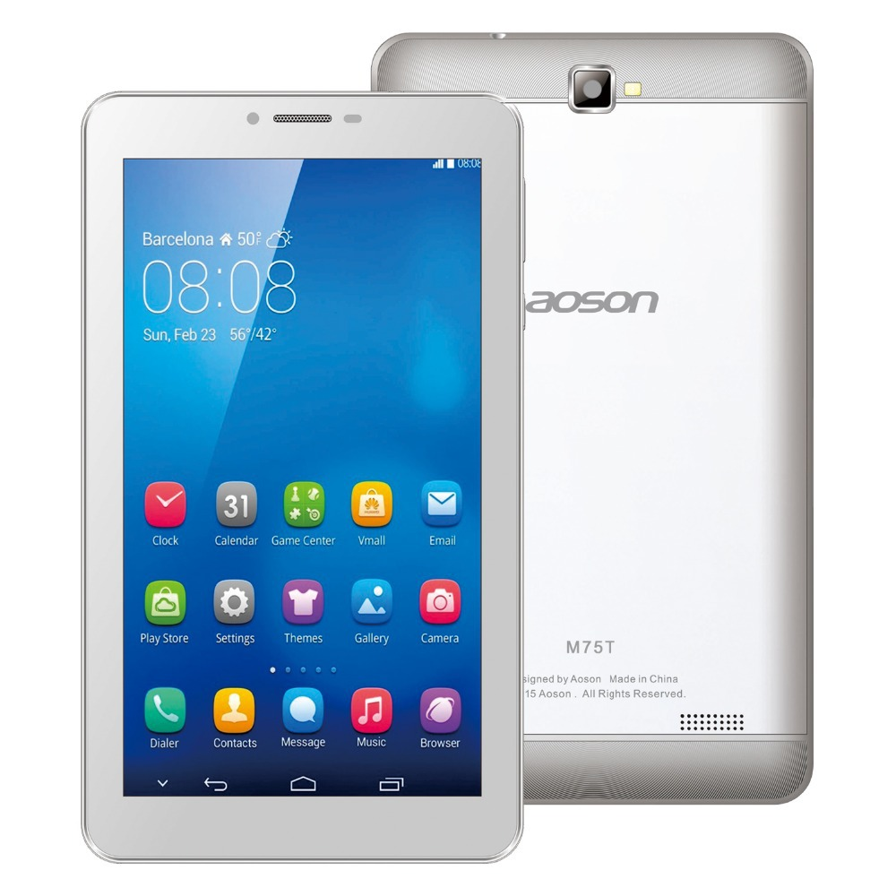 3G Phone Call Tablet PC Android Quad Core MTK8382 7 inch Aoson M75T With RAM 1GB ROM 8GB Dual Cameras GSM&WCDMA