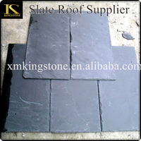 Top grade own quarry natural black slate roof tile
