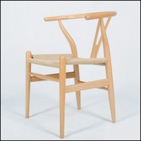 Hans J Wegner Y Chair , Wishbone Chair solid wood chair