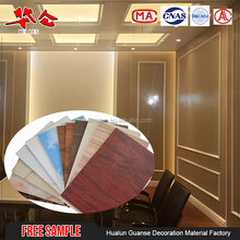 2017 Custom free sample cheap waterproof plastic pvc wall board for home decor