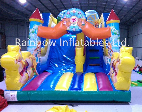 2016 Hot Sale Inflatable Slide with Children Cartoon for Kids