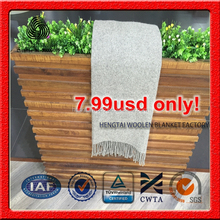7.99usd only 100% wool blanket for sale, very cheap good design pure wool blanket, 130x170cm 380gsm blanket from china