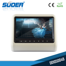 Suoer High quality 9 inch LED digital screen portable 12 volt dvd player headrest monitor for car