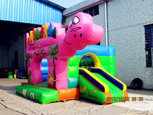 Colorful Inflatable dinosaur bouncer house jumper