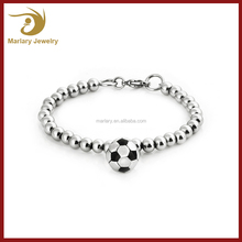 2017 Hot Selling Stainless Steel Charm Bracelet with Cute Football Charms