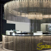 Noble and luxury metal ball curtains, ceiling treatments