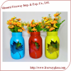 Antique Spray Painting Flower Vase With