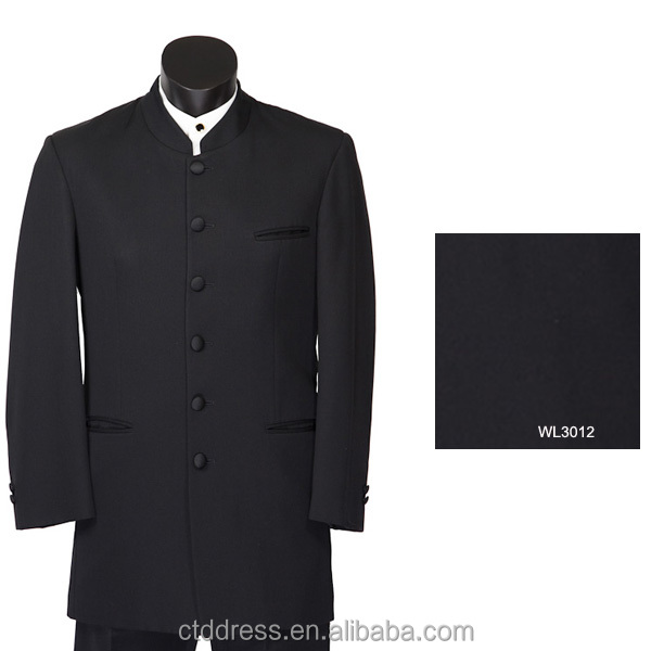 Black Khan Suit with Chinese Collar