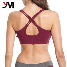 top gym clothing product custom logo fitness wear stylish double strap sports bra