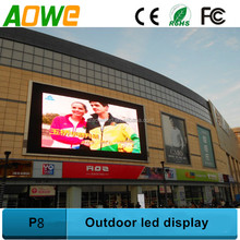 P8 Outdoor led digital sign board advertising big screen outdoor tv
