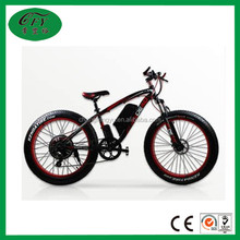 350w 26 inch fat tire aluminum alloy frame material mountain bike