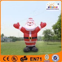 HIGH popular commercial amazing inflatable Santa Claus for kids