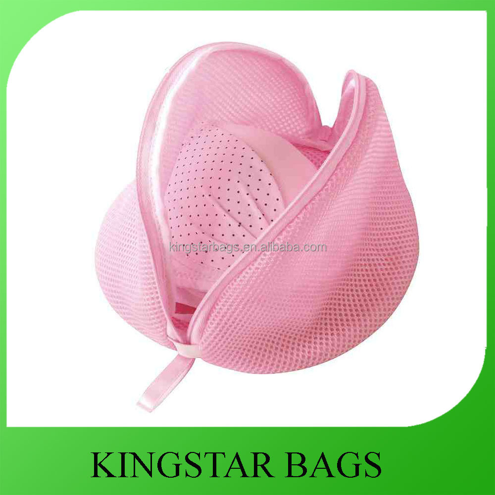 Pink Bra Wash Bag Zipper Laundry Bag