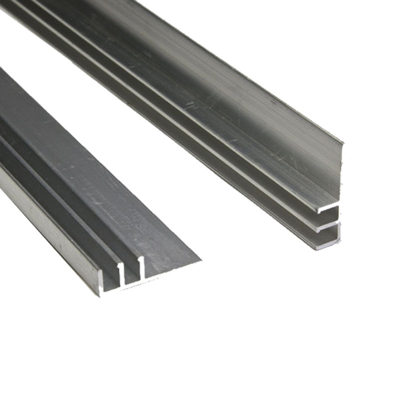 6061 T5/T6 Silver anodized aluminium profile for polycarbonate sheet
