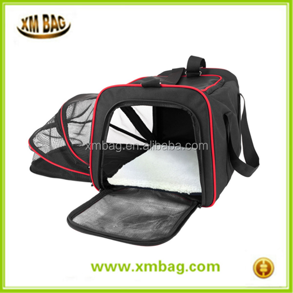 Expandable Pet Dog Cat Soft Sided Travel Carrier Tote Bag Soft Sided Carrier, Pet travel bag