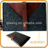 High quality leather wool felt tablet case for ipad mini