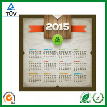 2016 wall calendar printing company from China