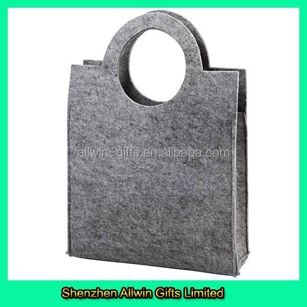 Plain Grey 5mm thickness Felt Tote Bag