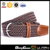 Superior high quality China Market adjustable sport double colors braided fashion belts