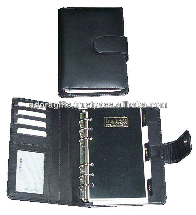 ADALP - 0099 up market embossed leather planner / weekly/monthly personal planner / latest leather planner agenda notebook