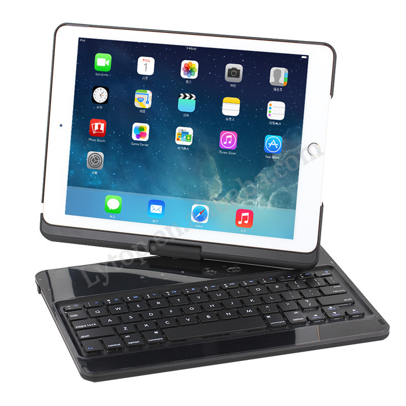 rotate bluetooth keyboard case for apple iPad air 2