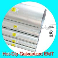 hot dip galvanized emt 114.3mm steel pipe