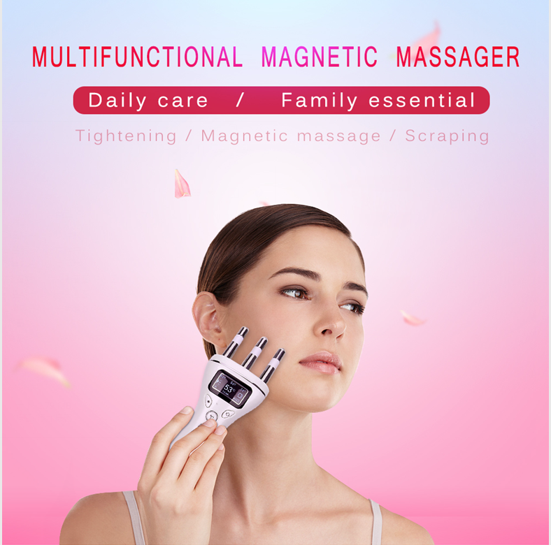 Home Use 5 in 1 Beauty Machine High Frequency Skin Lifting Multifunction Magnetic Massager
