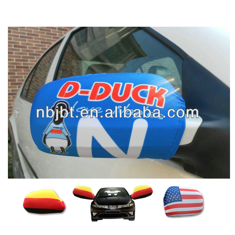 Customized logo car mirror cover flag