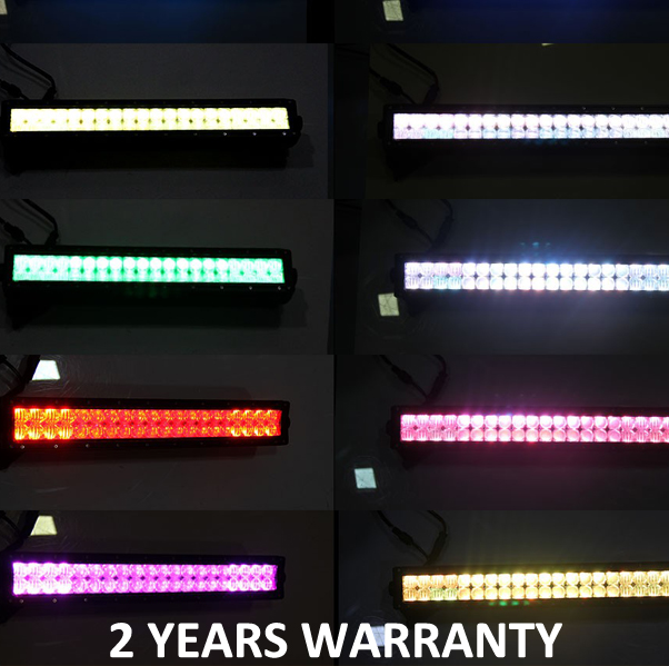 "5d reflector RGB rock light 120w 22"" led light bar offroad"