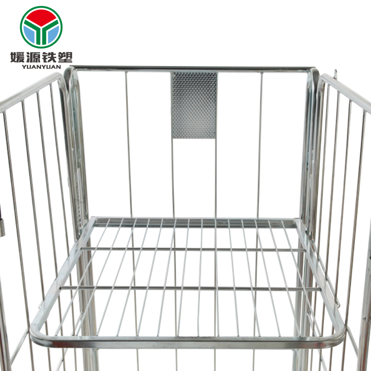 Eco-friendly square roll container mid steel welded pallet light duty goods shelf galvanized metal storage <strong>rack</strong>