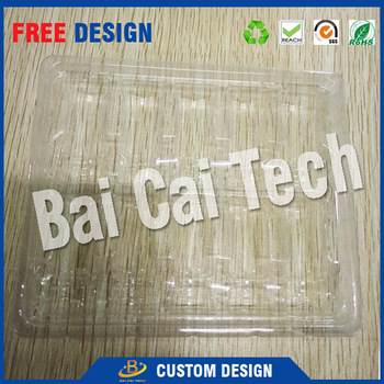 High-tech eco-friendly material PET transparent plastic packaging blister tray for vial glass