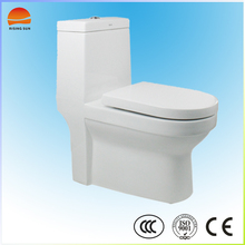 Fashionable bathroom ceramic toilet with white color ceramic toilet bowl