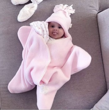 Super soft quality Hooded Baby Wrap Ultra Soft Baby Fleece sleeping bag Antibacterial and Hypoallergenic Bath Wrap with Hood