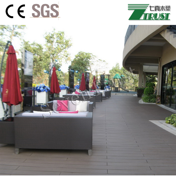 Anti-uv/water proof wpc decking for outdoor swimming pool decoration