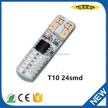 ZGRHGD led bulb t10 12V 24smd for auto accessory led auto lamp with top quality