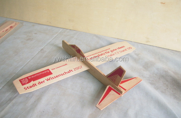 educational toys balsa wood airplane glider