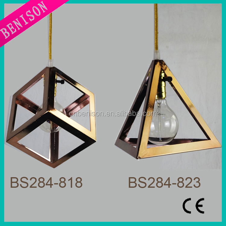 LOFT Industrial Style Triangle and Cube Shape Haning Lamp (Item no. BS284-818/823)