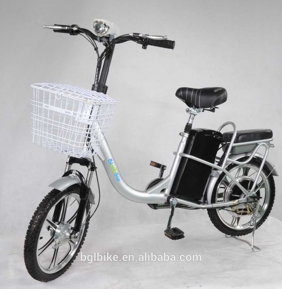 2016 new 18 inch cheap electric bicycle with basket pedal assistant electric bike