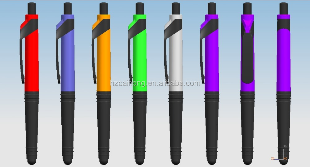 stylus function and simple and slim, colorful metal ball pen, CH-7013 Metal bal pen
