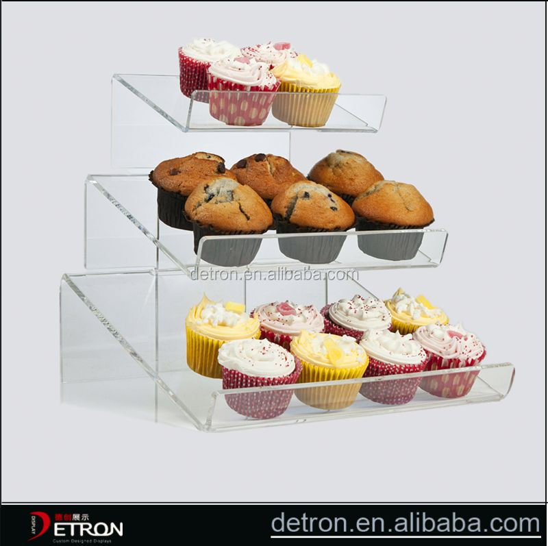 New Arrival acrylic cake push pop display stand