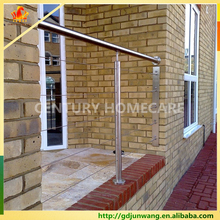 stainless steel wire staircase railing prices / steel pipe stair handrail / balcony stainless steel railing